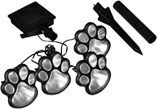 Obrecis Outdoor LED Solar Garden Path Lawn Yard Decor Lamp, Solar Dog Cat Animal Paw Print Lights (Solar Paw)