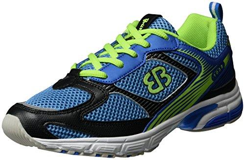 Brütting Runaway Fitnessschuhe Unisex, Blau/ Schwarz/ Lemon, 38 EU