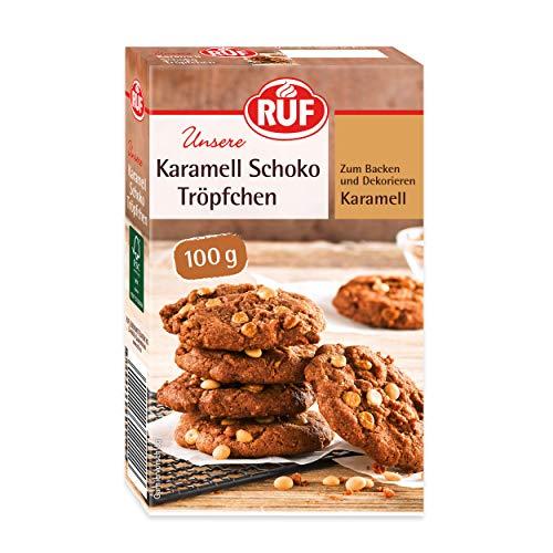 RUF Karamell Schoko-Tröpfchen zum Backen und Dekorieren, 100 g