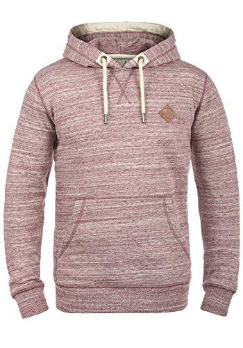 !Solid Kevin Herren Kapuzenpullover Hoodie Pullover Mit Kapuze Und Fleece-Innenseite, Größe:L, Farbe:Wine Red (0985)
