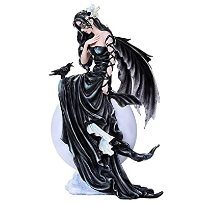 Pacific Giftware Dark Skies Raven Fey Goth Fairy Collectible Figurine Nene Thomas Licensed Art Inspiration 11 Inch Tall