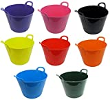 Set Of 3 - 26L Litre Strong Flexi Gorilla Tubs Trugs Laundry / Storage / Builder / Garden Buckets