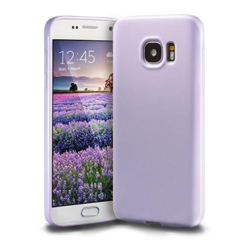 technext020 Galaxy S7 Lavender Case, Galaxy S7 Case Silicone Protective Back Cover Slim Fit Samsung Galaxy S7 Bumper