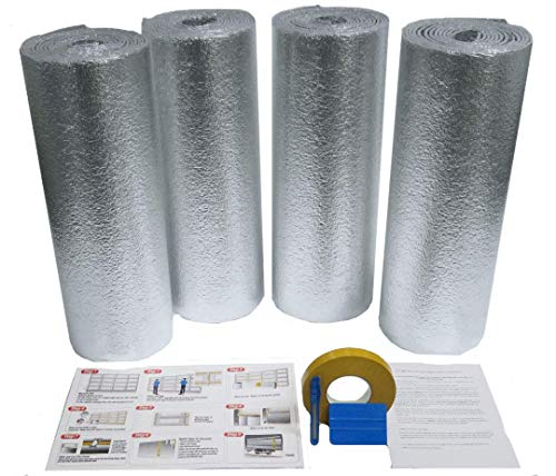 US Energy Products 2 Car Garage Door Insulation Kit R 7.5 Fits 16x7 & 16x8 DIY Insulation Weatherization Water Proof/Meets Fire Codes/Made in USA
