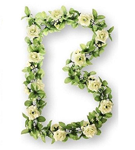 Basil Rosengirlande Flower Garland Girlande, Weiß, One Size