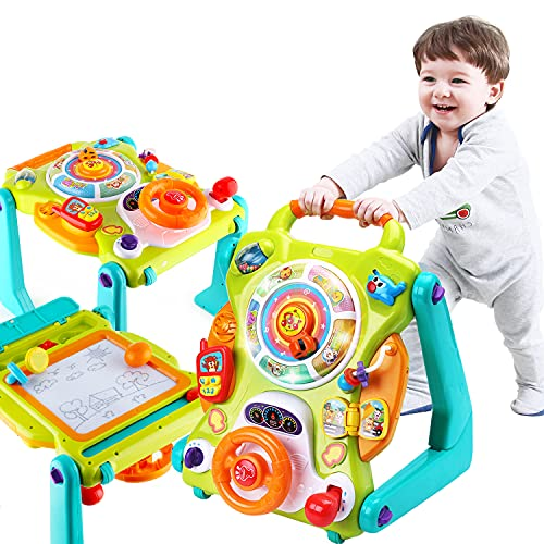 iPlay, iLearn 3 in 1 Baby Walker Sit to Stand Toys, Kids Activity Center,...