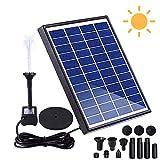 Bomba solar para fuente de jardín, 6 W, bomba de agua sencilla con panel solar, 6 estilos de fuente para estanque de jardín o fuente de peces.