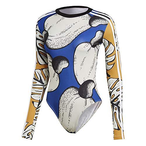 adidas Originals X The Farm Company Bodysuit Body Sportbody Top Cashew DH3059, Größe:40, Farbe:Mehrfarbig