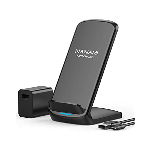 S9+//S8+ S7//S6 Edge+ and Other Qi Devices Samsung Galaxy S9//S8 No AC Adapter Qi-Certified Wireless Charger Stand Compatible with iPhone Xs Max//XS//XR//X//8//8+ Note9//8 Techdoty Fast Wireless Charger