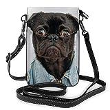 Lawenp Bolso vaquero azul con cuello cruzado para perro negro, bolso pequeño para teléfono, bolso pequeño...