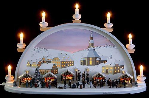 Schwibbogen Seiffener Weihnacht - limitiert von Klaus Kolbe - 70x40x17,5cm - Original Erzgebirge Schwibbögen - Klaus Kolbe