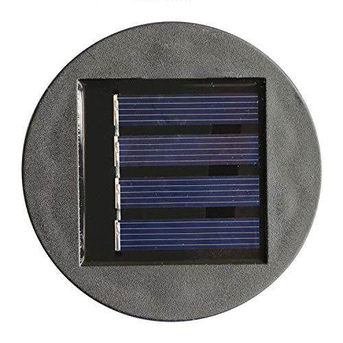 AA 600Mah Solar Lantern Top Replacement for Outdoor Solar Lantern Lights Waterproof (Round Solar Panel)