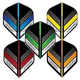 RED DRAGON Hardcore Stripes Pacchetto di Selezione Voli Dardo Standard di Spessore Extra - 5 Set per Confezione (15 Dart Voli Dart in Totale)