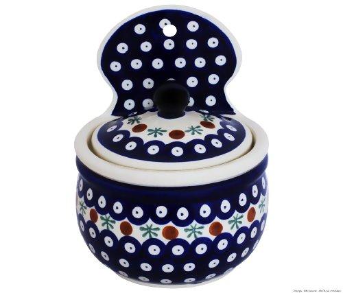 Bunzlauer Keramik Pot pour sucrier/Farine à Suspendre ø13,6, H = 17,4 cm, V = 0,70 Litre avec Motif décoratif 41
