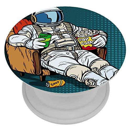 henghenghaha Uitbreiding Stand Grip Mount Socket Multi-Functie Mounts en Stands voor Mobiele telefoon en Tabletten Handgreep Pop Stand Houder Groene Cartoon Astronaut Zitten