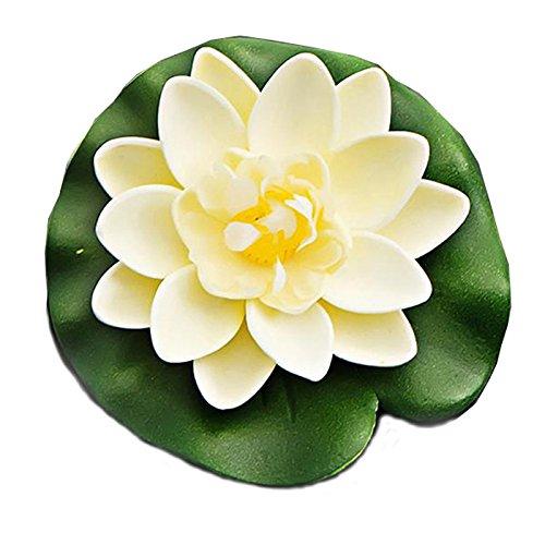 LAAT Schwimmend lotusblüte wassergras Kunststoff wasserpflanzen Seerose deko Hohe Simulation Nymphaea Fisch Tank Aquarium Simulation wasserpflanzen