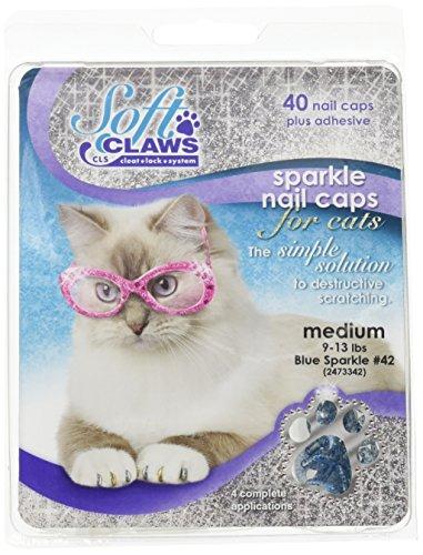 Soft Claws Inc Feline Doux Pince à Ongles caches M Blu Sprk