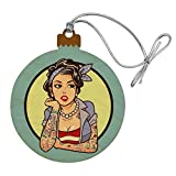GRAPHICS & MORE Rockabilly Retro Pin Up Girl with Tattoos Wood Christmas Tree Holiday Ornament