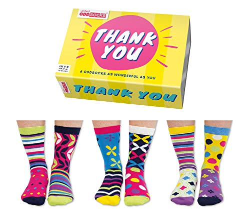 Thank You Danke Oddsocks Socken in 37-42 im 6er Set - Strumpf