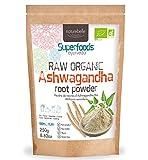 Ashwagandha Orgánica Naturebelle - Polvo de raíz Ashwagandha Orgánica Cruda Withania somnifera 250g - Certificado Orgánico - Polvo de raíz Ashwagandha Orgánica Cruda - 100% pura