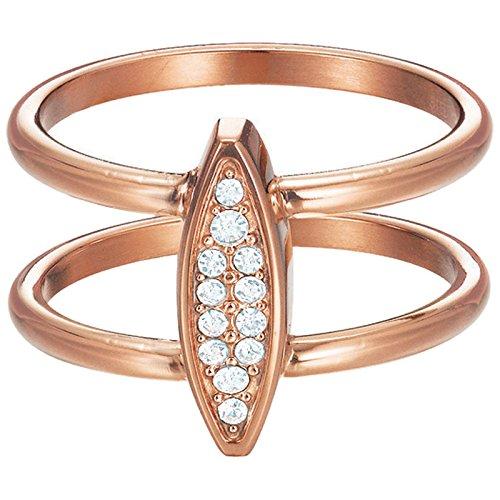 Esprit Damen-Ring Exclusive Edelstahl Glas weiß Brillantschliff - ESRG12856C190
