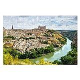 1000 piezas de rompecabezas para adultos con vista panorámica de la ciudad histórica de Toledo, divertidos rompecabezas para adultos, 1000 juguetes de bricolaje (27.6'x 19.7')