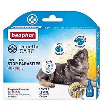 Beaphar Diméthicare, Pipettes Stop Parasites pour Chiots - 6 Pipettes pour Chien