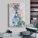 XCSMWJA Póster Pintura En Lienzo Abstracta Cuadros Grandes De Acuarela para Carteles De Diseño del Hogar E Impresiones para Sala De Estar 50x70cm