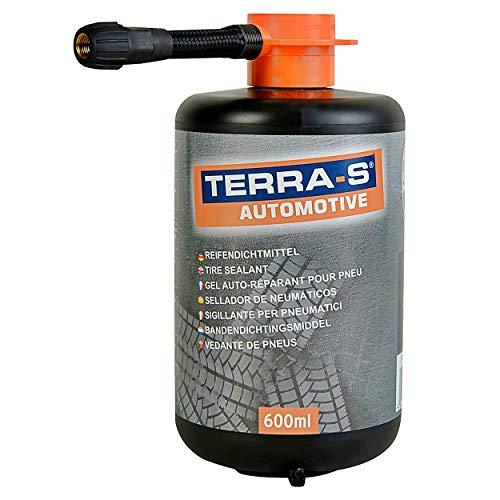 Reifendichtmittel Ersatzflasche 600ml Terra-S | Nachfüllflasche Reifenreparatur Auto | Reifendicht, Reifen Reparaturset