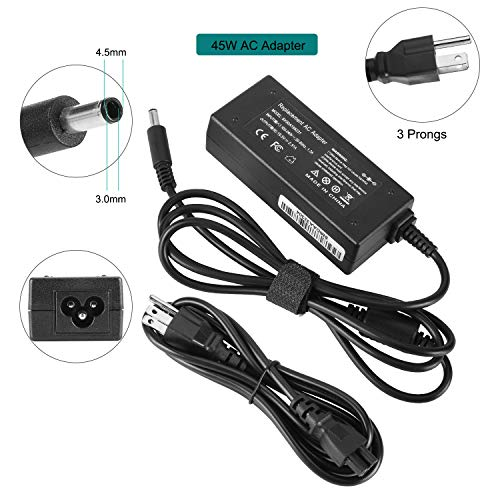 19.5V 2.31A 45W AC Adapter Charger Compatible with Dell Inspiron 11 13 14 17 15 7000 5000 3000 Series 3551 3552 3555 3558 5555 5558 5559 Latitude 12 13 7202 3379 Vostro 14 15 XPS 12 13 15 Power Supply -  XYT-TECH