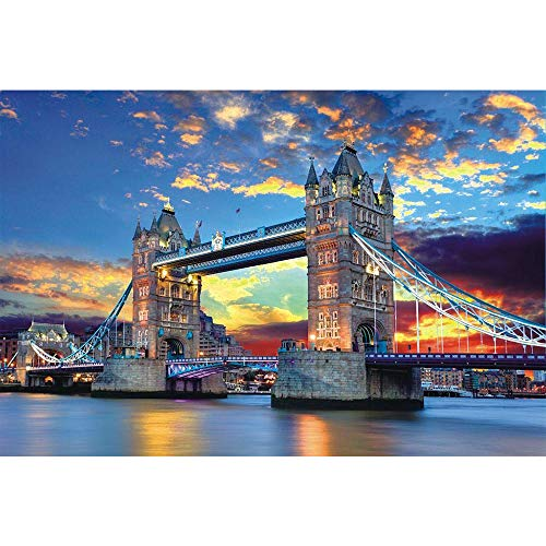 Tomoving 1000 Pieces Jigsaw Puzzles for Adults Puzzles 1000 Piece Jigsaws for Adults Puzzle Adult London Tower Bridge Difficult and Challenge