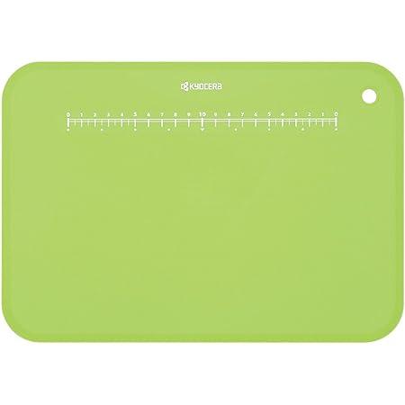 京セラ まな板 約30×20 cm 抗菌 柔らかい 薄い 軽い 目盛り スタンド 付き 漂白 除菌 OK グリーン 日本製 Kyocera CC-99 GR