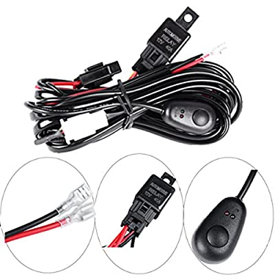POWLAB 12V 40A Wiring Harness Kit Off Road LED LIGHT Bar On Off Power Switch Relay for ATV/Jeep LED Light Bar