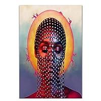 Suuyar Janelle Monae(Janelle Monae)ダーティコンピューターポップミュージック2018ミュージックアルバムカバースターポスターアートシルクキャンバスホームルーム壁装飾50X70Cmフレームレス