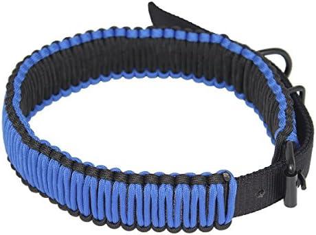 Fenibuk 550lb Braided Paracord Adjustable Dog Collar for Large Dog Neck 17 to 23 Navy Blue product image