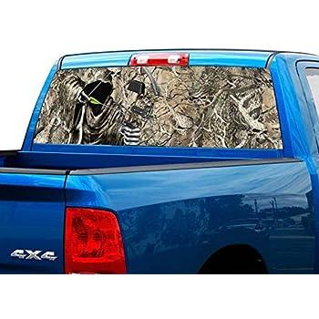 North Carolina Pick-Up Truck Perforated Rear Window Wrap