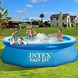 F-JX Grande Piscina, Esterno Mobile Rotonda Telaio Bathing Pool, Portatile Pieghevole Piscina per Bambini per Adulti e Bambini,305x76cm