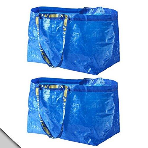 Ikea Einkaufstasche, klassisch, Blau, 2 Stück, 172.283.40