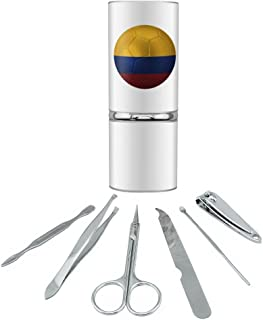 Colombia Flag Soccer Ball Futbol Football Stainless Steel Manicure Pedicure Grooming Beauty Care Travel Kit