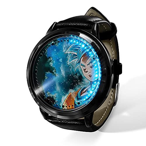 Anime Dragon Ball Saiyan Sun Wukong LED Reloj impermeable pantalla táctil digital luz reloj unisex Cosplay Props regalo New-07_F