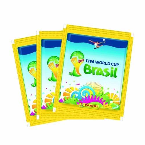 PANINI BRAZIL Aufkleber 25 Packungen FIFA Weltmeisterschaft Brasilien 2014 - 5 Aufkleber pro Packung insgesamt 125 Aufkleber !! !