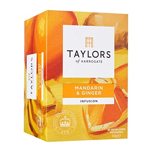 Taylors de Harrogate Infusión sin café de Mandarina y Jengibre - 1 x 20 bolsitas de té (50 gramos)