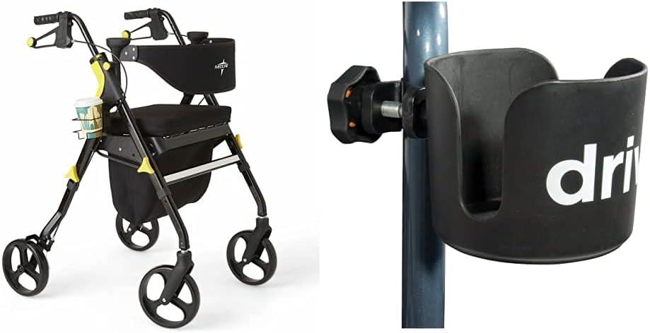 Tucson Mall Medline Premium Empower Rollator Walker with Rolli Fashion Seat Folding