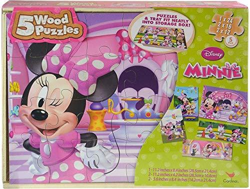 Disney Minnie 5 Wood Puzzle Box
