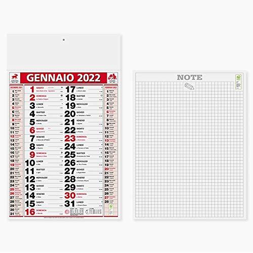 Calendario olandese murale 2022 COLOR a strappo 47x29 (PEZZI 2)