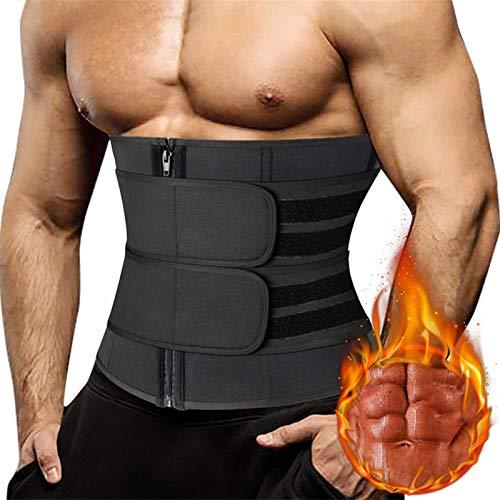 YHQKJ Hombres de Cintura Entrenador corsés Gimnasio recortador cinturón Adelgazamiento Cuerpo de la Bolsa para la pérdida de Peso Sauna Sudor Garra de Entrenamiento Quemador de Grasa