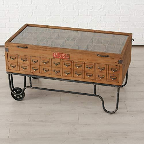 Vintage Couchtisch Setzkasten mit Schubladen