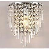 Luces de la luz de la pared del colgante de cristal semi circular simple moderno para la lámpara de la sala de estar de la sala de estar de la sala de montaje en la pared Lámpara de la lámpara Lámpara