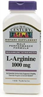 21st Century L-Arginine 1000mg, Maximum Strength 100 ea (Pack of 7)