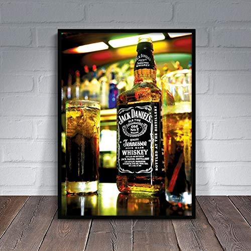 Pintura sin Marco Vino vitorea la Pintura Decorativa Moderna Restaurante Minimalista Bar Vino Rojo cigarro Pintura al óleoAY4826 30X45cm